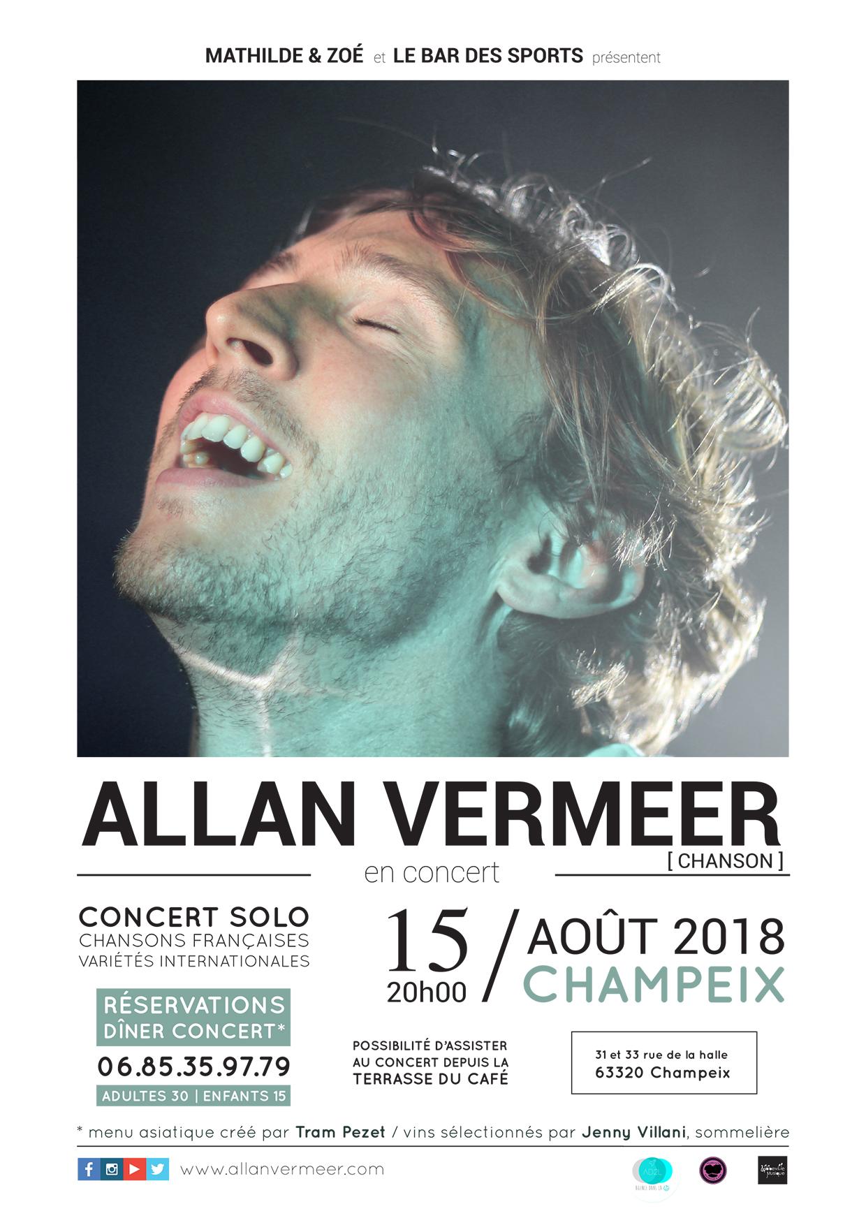 Affiche concert Allan Vermeer à Champeix