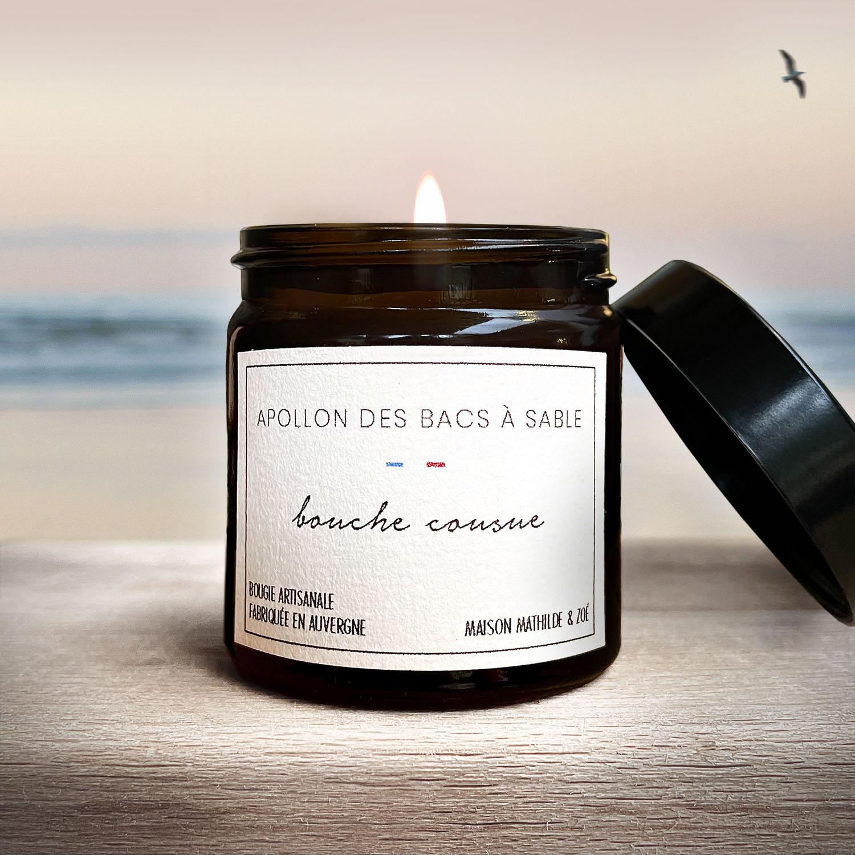 """Bougie """"Bouche cousue"""" (Apollon des bacs à sable)"""