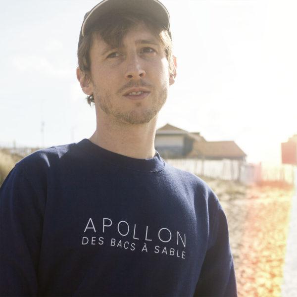 Sweat-shirt APOLLON DES BACS À SABLE (Allan Vermeer)